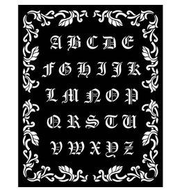 Stamperia Thick stencil 20x25 cm - Sleeping Beauty alphabet