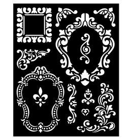 Stamperia Thick stencil 20x25 cm - Alice frames