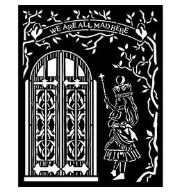 Stamperia Thick stencil 20x25 cm - Alice door