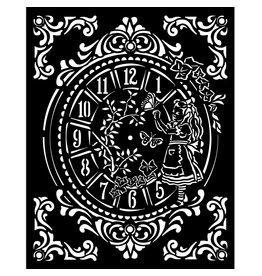 Stamperia Thick stencil 20x25 cm - Alice clock