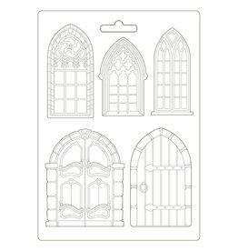 Stamperia Soft Mould A4 - Sleeping Beauty doors and windows