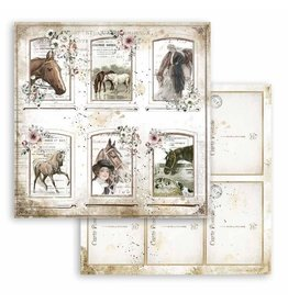 Stamperia Scrapbooking paper double face -Romantic Horses cards