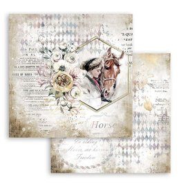 Stamperia Scrapbooking paper double face - Romantic Horses lady with horse