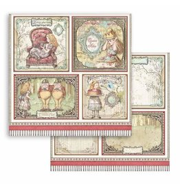 Stamperia Scrapbooking paper double face - Alice cards