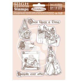 Stamperia HD Natural Rubber Stamp 14x18 cm - Sleeping Beauty Once Upon a Time