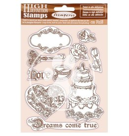 Stamperia HD Natural Rubber Stamp 14x18 cm - Sleeping Beauty Dreams came true