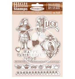 Stamperia HD Natural Rubber Stamp 14x18 cm - Happy Birthday Alice
