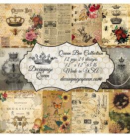 Decoupage Queen Queen Bee, Decoupage Queen scrapbook sets feature 24 designs,
