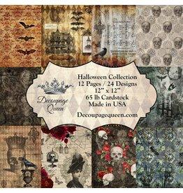 Decoupage Queen Halloween Collection, Decoupage Queen scrapbook sets feature 24 designs