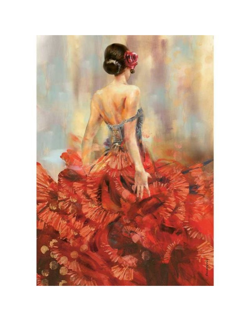 Stamperia A4 Rice paper packed - Carmen