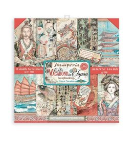 """Stamperia Scrapbooking Extra small Pad 10 sheets cm 15,24x15,24 (6""""x6"""") - Sir Vagabond in Japan"""