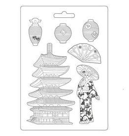Stamperia Soft Mould A4 - Sir Vagabond Japan pagoda