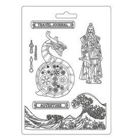 Stamperia Soft Mould A4 - Sir Vagabond in Japan dragon