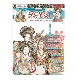 Stamperia Die cuts assorted - Sir Vagabond in Japan