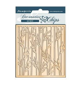 Stamperia Decorative chips cm 14x14 - Sir Vagabond in Japan bamboo