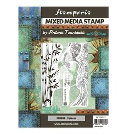 Stamperia Mixed Media Stamp cm 15x20 - Sir Vagabond in Japan bamboo