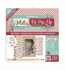 Stamperia Tunnel Pop up kit - Alice wonderland