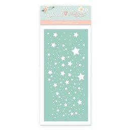 Stamperia Thick stencil cm 12x25 - Christmas rose stars