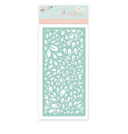 Stamperia Thick stencil cm 12x25 Christmas rose flowers