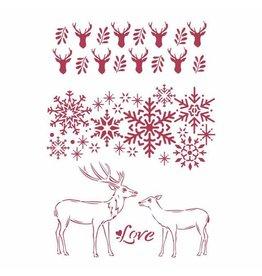 Stamperia Stencil G cm 21x29,7 - Winter Tales love