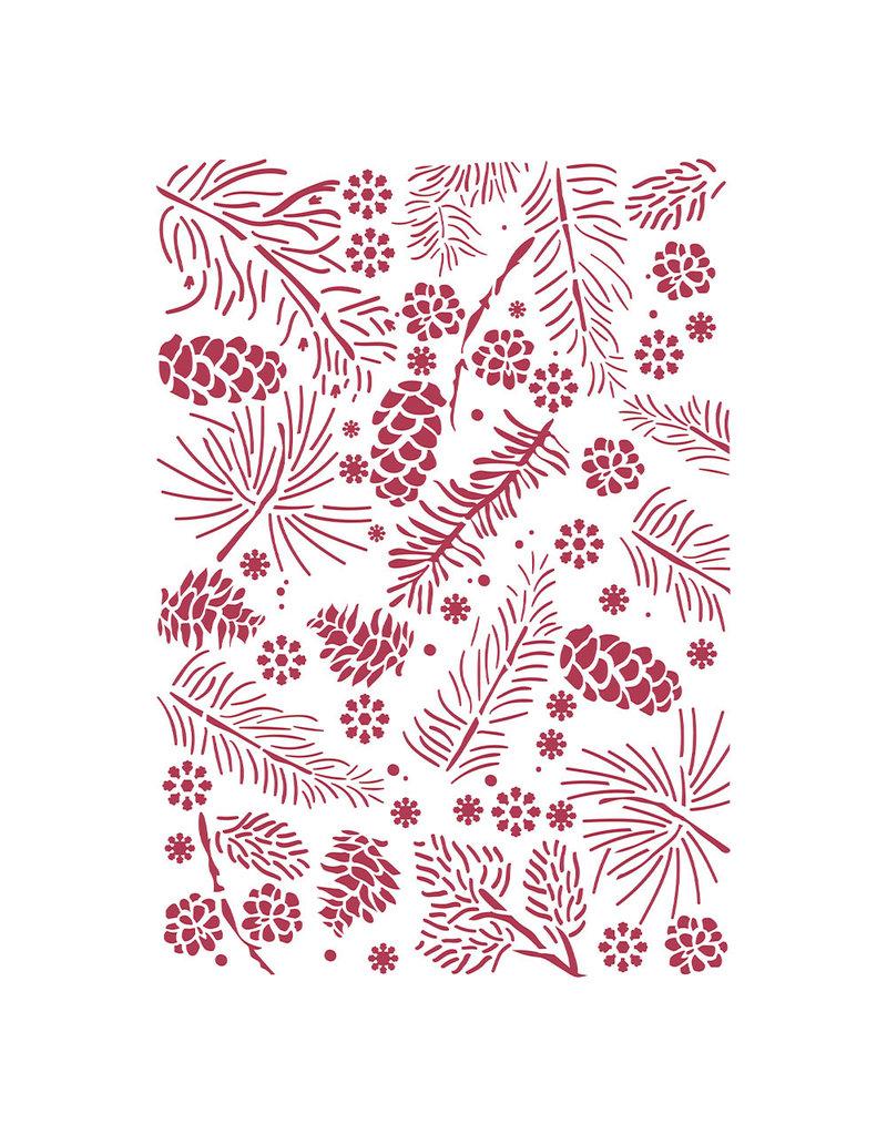 Stamperia Stencil G cm 21x29,7 - Christmas pinecones
