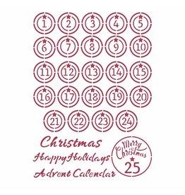 Stamperia Stencil G cm 21x29,7 - Christmas Patchwork advent