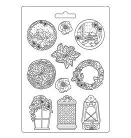 Stamperia Soft Mould A4 - Winter Tales garland