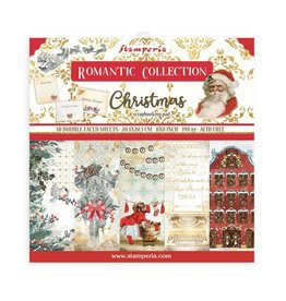 """Stamperia Scrapbooking Small Pad 10 sheets cm 20,3X20,3 (8""""X8"""") - Romantic Christmas"""