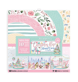 """Stamperia Scrapbooking Small Pad 10 sheets cm 20,3X20,3 (8""""X8"""") - Christmas rose"""