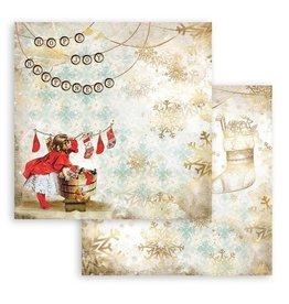 Stamperia Scrapbooking Double - Romantic Christmas socks