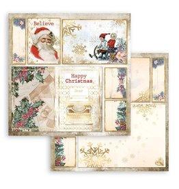 Stamperia Scrapbooking Double - Romantic Christmas Santa Claus