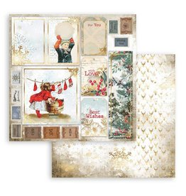 Stamperia Scrapbooking Double - Romantic Christmas cards