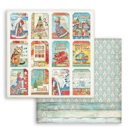 Stamperia Scrapbooking Double face sheet - Christmas Patchwork cards