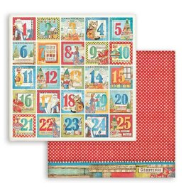 Stamperia Scrapbooking Double face sheet - Christmas Patchwork Advent calendar