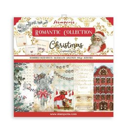"Stamperia Scrapbooking Pad 10 sheets cm 30,5x30,5 (12""x12"") - Romantic Christmas"