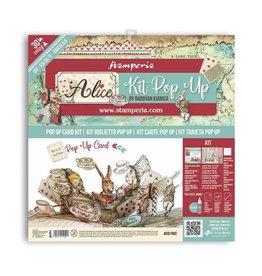 Stamperia Pop up kit - Alice tea party
