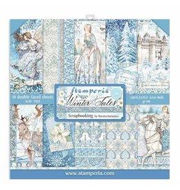"""Stamperia Scrapbooking Extra small Pad 10 sheets cm 15,24x15,24 (6""""x6"""") - Winter Tales"""