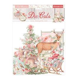 Stamperia Die cuts assorted - Pink Christmas