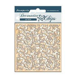 Stamperia Decorative chips cm 14x14 - Winter Tales ramage