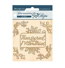 Stamperia Decorative chips cm 14x14 - Romantic Christmas memories