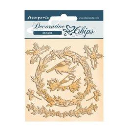 Stamperia Decorative chips cm 14x14 - Romantic Christmas Garland