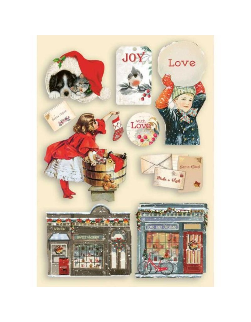 Stamperia Colored Wooden shape A5 - Romantic Christmas