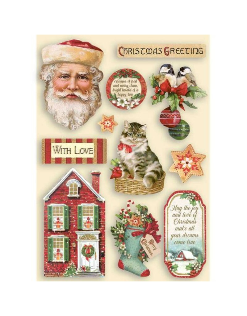 Stamperia Colored Wooden shape A5 - Classic Christmas
