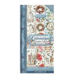 """Stamperia Collectables 10 sheets 15x30,5 (6""""x12"""") - Winter Tales"""