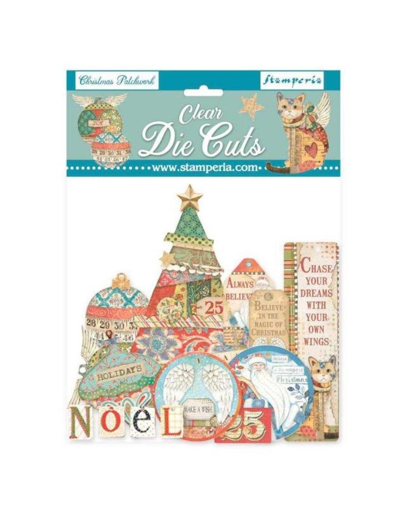 Stamperia Clear Die cuts - Christmas patchwork