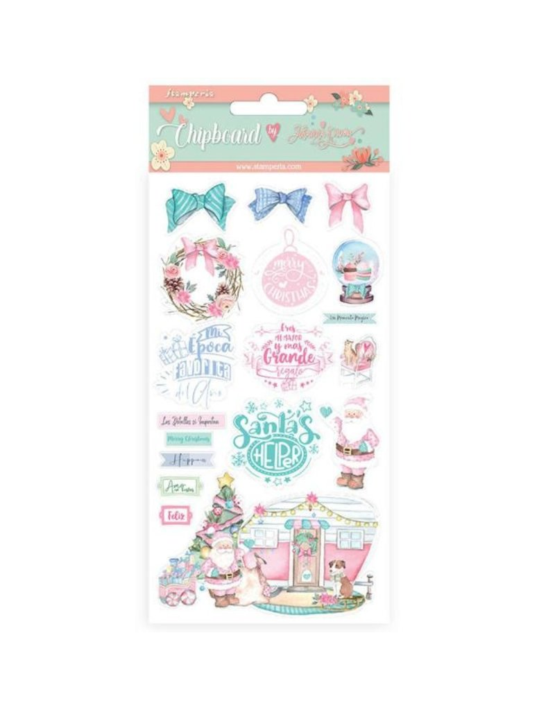 Stamperia Chipboard cm 15x30 - Christmas rose