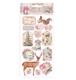 Stamperia Chipboard cm 15x30 - Pink Christmas