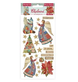Stamperia Chipboard cm 15x30 - Christmas patchwork