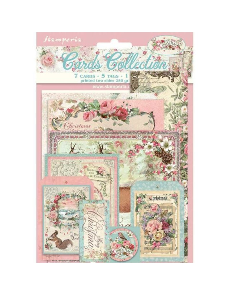 Stamperia Cards Collection - Pink Christmas