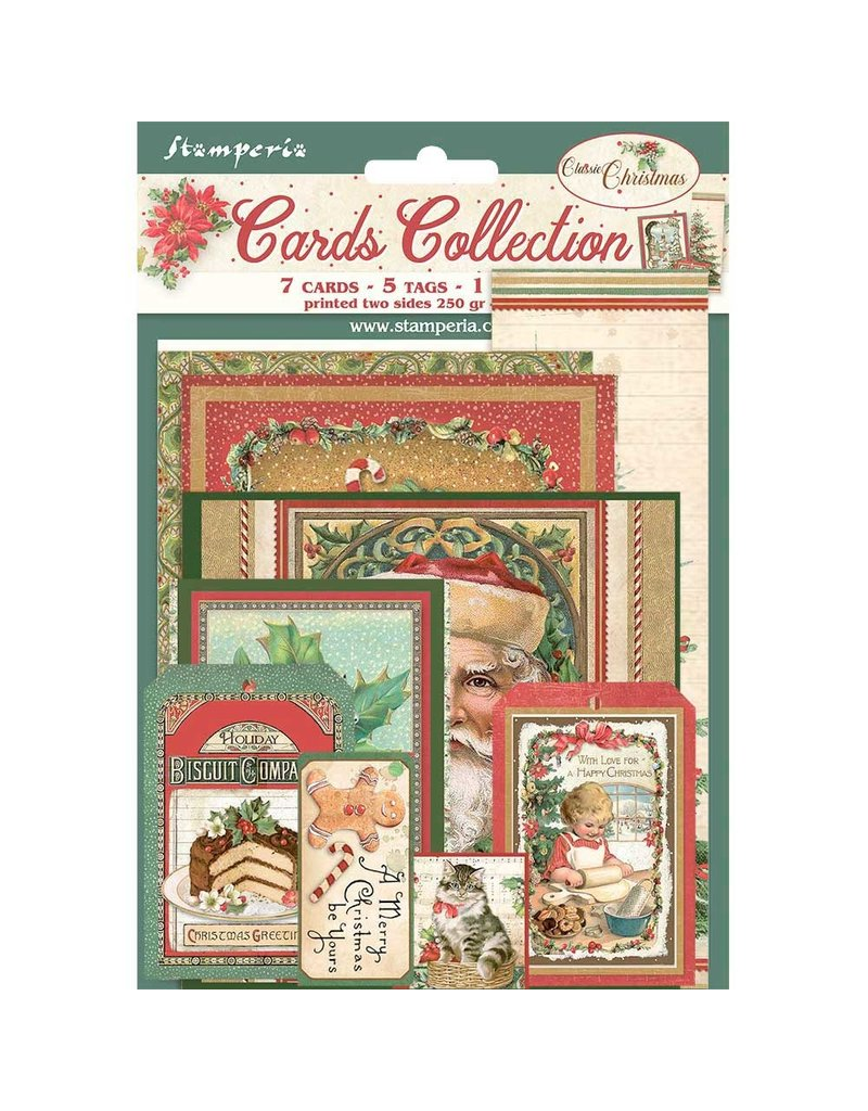 Stamperia Cards Collection - Classic Christmas